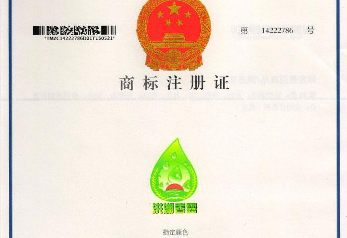 洪湖亚搏官方平台商标注册证